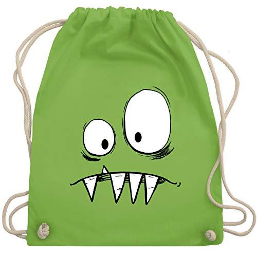 Beliebte Kinder Kostüm - Karneval & Fasching Kinder - Monster Kostüm - Unisize - Hellgrün - WM110 - Turnbeutel & Gym Bag