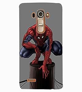 ColourCraft Superhero Design Back Case Cover for LG G4