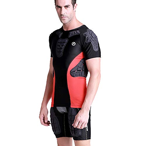 NCBH Sport Radfahren Fahrrad Rüstung Motorräder Rüstung Anti-Fall-Kleidung Schulterschutz Taktischer Anzug Zweiteiliger Anzug Männlich,XL