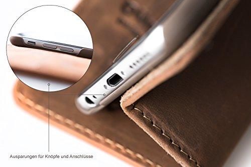 """Blumax Wallet Tasche iPhone 6 / 6s Lederhülle Premium Design Case 4,7"""" Zoll Schutzhülle ohne Magnet Klapphülle Antik-Braun für Apple iPhone Geschenkidee Kupfer Braun"""