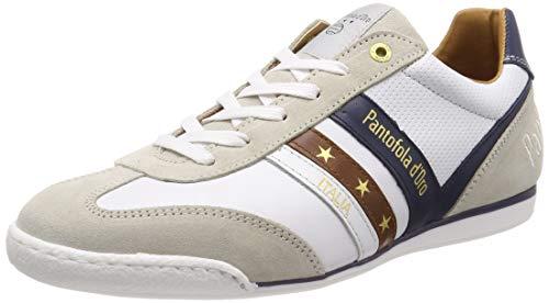 Pantofola d'Oro Vasto Uomo Low, Scarpe da Ginnastica Basse, Bianco (Bright White .1FG), 43 EU