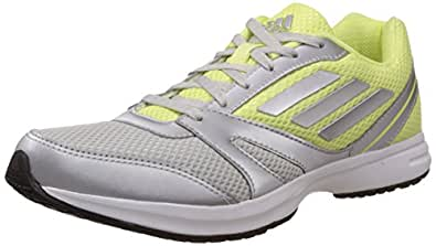 adidas Women's Hachi 1.0 W Silver and Yellow Mesh Running Shoes - 5 UK