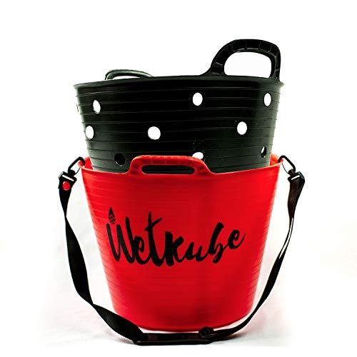 Wetkube es un producto diseñado para el transporte y la evacuación de agua de tu material de Surf (neopreno, escarpines, guantes, gorro, invento, etc).Consta de un balde con dos compartimentos que ayuda a separar el agua del material deportivo aceler...