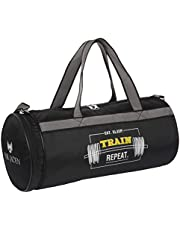 FUR JADEN 23l Waterproof Duffle Gym Bag for Men with Separated Shoe Pocket and Attached Shoulder Strap Polypropylene 50 cms Black Travel Duffle (DUFF06)