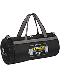 Fur Jaden Black 23L Waterproof Duffle Gym Bag for Men with Separated Shoe  Pocket and Attached 84f6d9fed8cf4