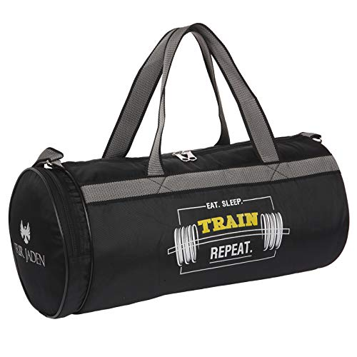 Fur Jaden Black 23L Waterproof Duffle Gym Bag for Men...