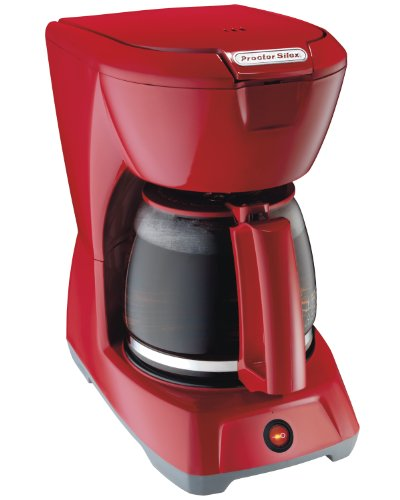 Proctor Silex 43603 PS - 12 Cup Kaffeemaschine, Rot - 12 Cup Kaffeemaschine