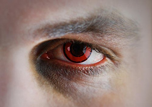 Crazy Fun Colour Color Contact Lens lenses Farbig Kontaktlinsen lentille for Halloween XMAS Party Cosplay Red Black (((VOLDEMORT))) Rot Schwarz Rouge Vampire Zombie Noir Harry Potter Tom Riddle film movie uk (Harry Styles Und Halloween)