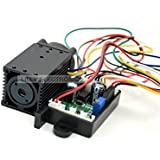 100mw 532nm láser verde de 12V del punto del ventilador de refrigeración del módulo TTL tiempo de 0-30 KHZ-Long trabajar