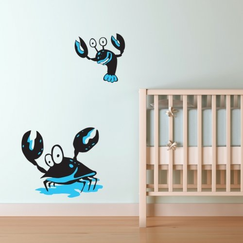 underwater-crab-and-lobster-wall-sticker-kids-nursery-etiquetas-de-la-pared-etiquetas-de-la-pared-tr