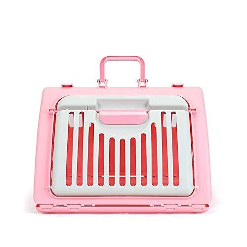 Pet Supplies Pet Bag aus Tragbarer Hundetasche Katzen-Tasche Teddy Kleiner Hund Pommerschen Schultertasche Denim-Tasche Brust Messenger Bag B1108 (Color : Pink) -
