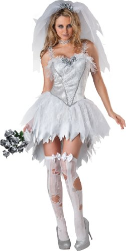 Women's Bloodless Bride, White, Large (Halloween Kostüm Corpse Bride)