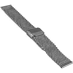 Vollmer Polished Mesh Bracelet with Easy Adjust Push Buckle 13080H4 (20mm)