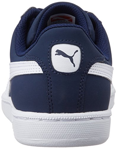 Puma Smash Nubuck, Tennis Adulte Mixte Bleu (Peacoat/White 01)