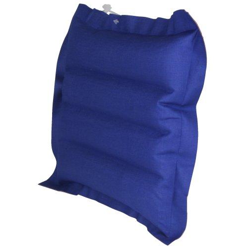 10T Outdoor Equipment 10T Ruby Head Box Baumwoll-Box-Kissen 30x30x7cm Reisekissen Luftkissen Kopfkissen aufblasbares Kissen mit Aussenbezug aus Baumwolle im rot - blauen Retro Design