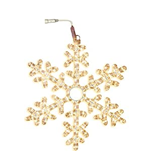 Star 50 cm Snowflake Rope Light Silhouette Extendable with 216 Warm White LED