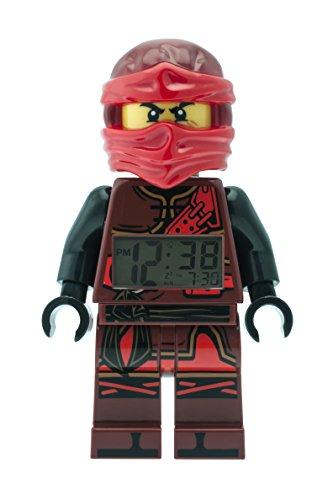 LEGO Ninjago 9009280 Hands of Time Kai Kinder-Wecker mit Minifigur und Hintergrundbeleuchtung | rot/schwarz | Kunststoff | 24 cm hoch | LCD-Display | Junge/ Mädchen | offiziell Kai Ninjago Uhr