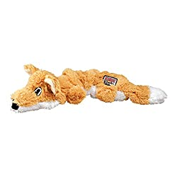 KONG Scrunch Knots Fox Dog Toy, Medium/Large