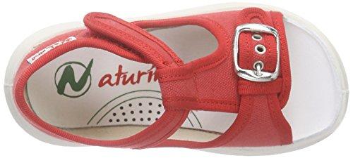 Naturino Naturino 7786, Sandales ouvertes mixte enfant Rouge - Rot (TELA ROSSO)