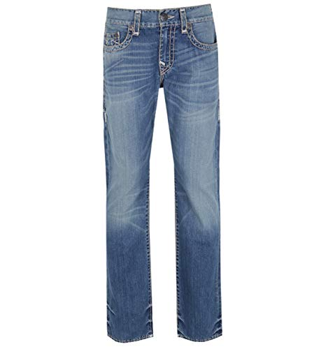 True Religion Ricky No Flap Super T Jeans in Blauer Waschung