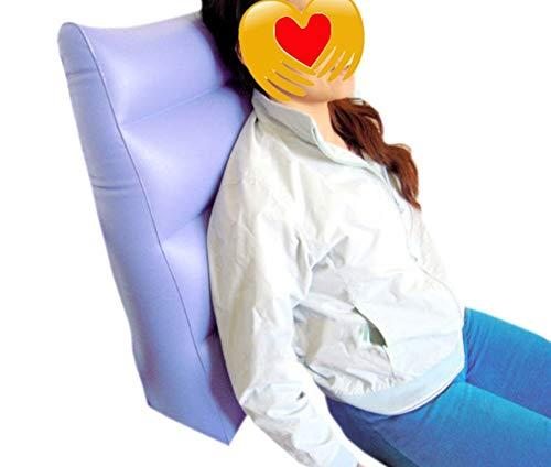 Hinteren Ferse (QINAIDI Aufblasbares Anti Dekubitus Kissen/Rollstuhl Anti Dekubitus Kissen für Das hintere Bein Fuß Fersen Hals Bett Patientdrehende Auflage Dreieck ältere Pflegematte)