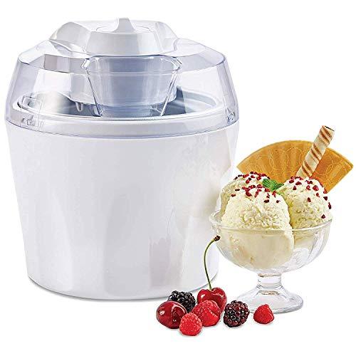 Weißer Eisbereiter für leckeres weiches Eiscreme, abnehmbares Mischpaddel, 1,5 l -