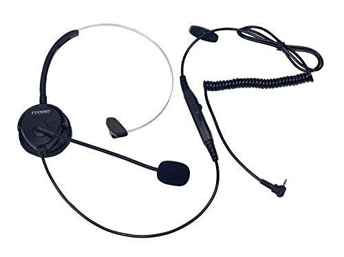 Coodio Telefono Cordless DECT Cuffia [interruttore mute] [Controllo del Volume]