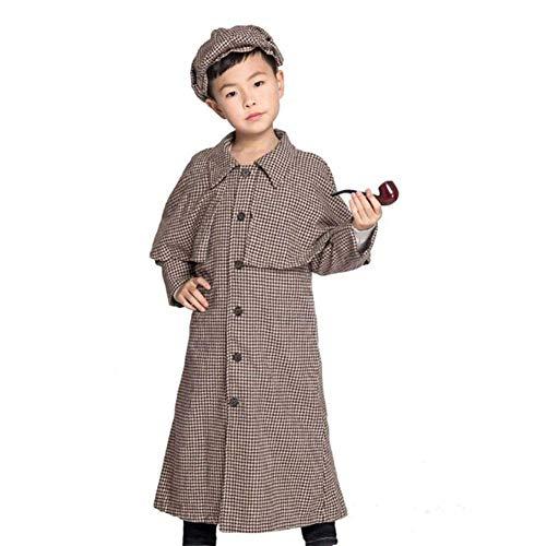 Sherlock Holmes Kostüm Sexy - Pkfinrd Halloween-Kostüme Eltern-Kind-Kindergarten-Bühnenkostüme Jungen- und Kinderanzüge (Size : XL)