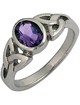 DTPsilver -Ring 925 Sterling Silber mit Amethyst Keltisch Design