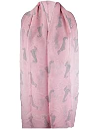 TOOGOO(R) Sausage Dachshund Dog Animal Ladies Scarf Shawl Soft Feel 180 x 90cm Black