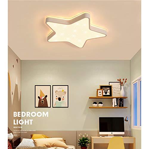 GUANSHAN Deckenleuchte Star Kinderzimmer Deckenleuchte Ultradünne Led 5 cm mit sternenklar blinkendem Lampenschirm für Jungen Baby Mädchen Schlafzimmer Kinderzimmer, 36W -