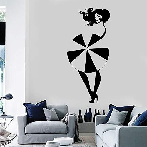 zqyjhkou Caliente Mujer Chica Tatuajes de Pared de Vinilo Paraguas Decoración del Hogar salón de Belleza Diseño Especial Pegatinas Inicio Diysyy385 42x92 cm