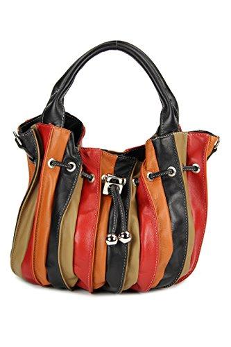 Belli - Borsa shopper Donna Multicolore (multicolor 12). Pelle; Borsa  shopper