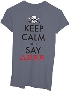 T-Shirt KEEP CALM AND SAY ARRR PIRATI - FAMOSI - by iMage