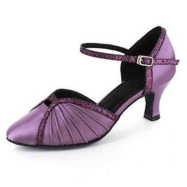 Scarpe da ballo-Personalizzabile-Da donna-Balli latino-americani Danza moderna-Tacco su misura-Finta pelle-Nero Blu Viola Rosso Bianco gray