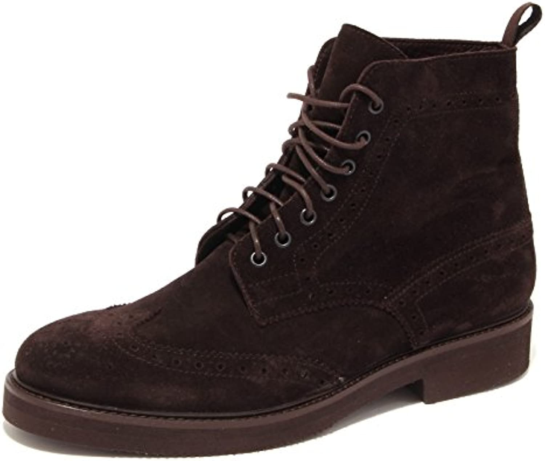 0621S polacchino uomo CARACCIOLO 1971 anfibio marrone suede brown shoe men