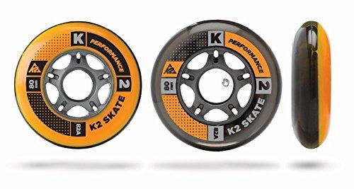 K2 Inline Rollenset Wheel 4-Pack, 90mm, 3053005.1.1