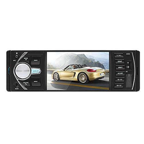 asiproper 10,4 cm Auto MP5 Player 12 V Auto Vedio Adapterkabel Radio TFT Display/Bluetooth/Rear View