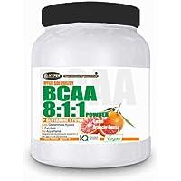 Preisvergleich für BCAA pulver 811 hochdosiert 300 GR Aminosäuren mit Glutamin Kyowa | GESCHMACK Orange | 0,15 g pro Dosis von Kohlenhydraten...