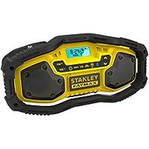 STANLEY FATMAX - FMC770B-QW Radio con Bluetooth.  Posibilidad de utilizar con baterías de 18V 1.5Ah, 2.0Ah o 4.0Ah y también conectado a la red eléctrica.  Sin baterías ni cargador