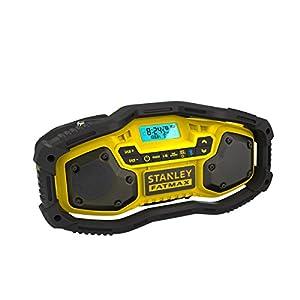 STANLEY FMC770B-QW – Radio con Bluetooth. Posibilidad de utilizar con baterías de 18V 1.5Ah, 2.0Ah o 4.0Ah y también conectado a la red eléctrica. Sin baterías ni cargador