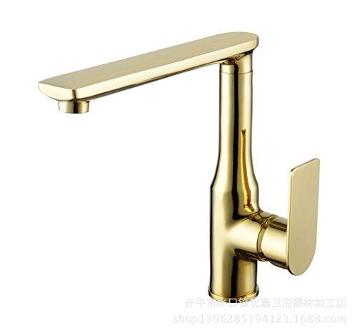 Küche Wasserhahn vergoldete Hahn goldenen Teller Armaturen heißen und kalten Wasserhahn -
