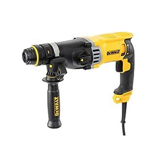 DeWalt SDS-plus Kombibohrhammer/ Schlagbohrmaschine (900 Watt, max. Bohrleistung (Beton) 26 mm, Schnellwechsel-Bohrfutter, Drehstopp für Meißelarbeiten, Sicherheitskupplung) D25144K