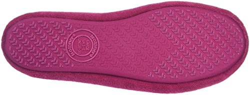 Isotoner Terry Ballerina, Chaussons femme Rose - Pink (Sangria)