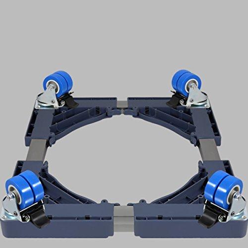 Regal Platte Unter Rack (4 Wheel Brake Multifunktionsrollwagen / Räder Bewegliche Spezialbasis Für Haushaltsgeräte - Wäschetrockner Herde Kühlschränke Freezers,Grey-4DoubleWheel-FixedRange9.5cm)