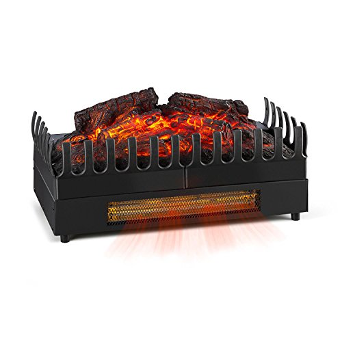 Klarstein Kamini FX • Elektrischer Kamin • Elektrokamin • Kamineinsatz • Flammeneffekt • stimmungsvolle Beleuchtung und/oder Wärmequelle • 1000/2000 Watt Heizfunktion • 2 Watt LED • sauber • schwarz