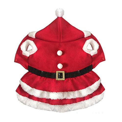 Haustier-Weihnachtskostüm, Weiche Und Bequeme Hundeweihnachtsmann-Kleidung (Farbe : Red, größe : M)