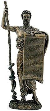 Generic Antike griechische Figur Hippokrates von COS mit hippokratischen Eid kalt gegossen Bronze Statue (Hippokrates-statue)