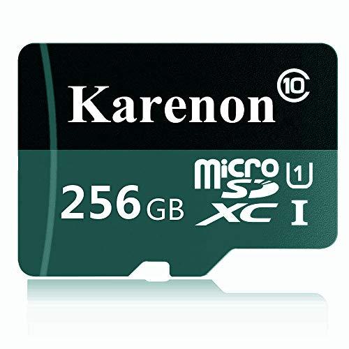 Karenon - scheda micro sd da 256 gb, microsdxc 256 gb, classe 10, con adattatore (de49-ka01)