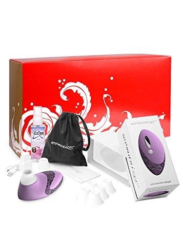 Womanizer Geschenkbox: Womanizer Pro W500 lavendel/lace + Gleitgel + 5 Ersatzköpfe